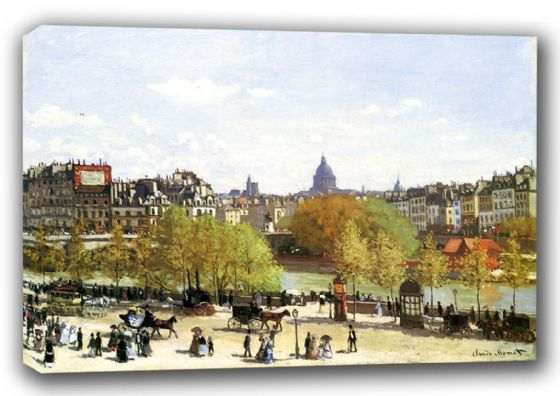 Monet, Claude: Le Quai du Louvre. Fine Art Landscape Canvas. Sizes: A3/A2/A1 (00766)